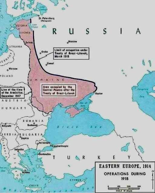 Traité de paix Brest Litovsk