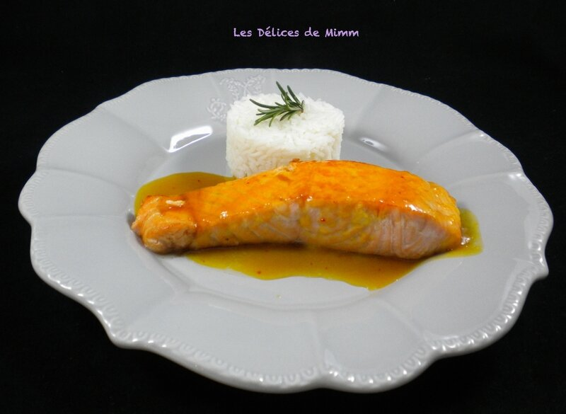Filets de saumon au caramel d'orange 5