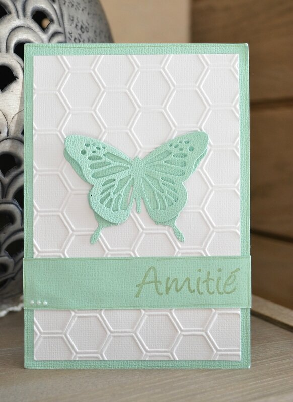 carte scrap de petit pois