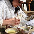Décors sur poteries Faiencées