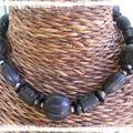 Collier boule noir(CC26)