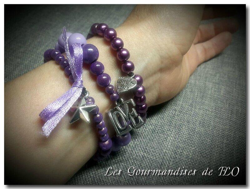 bracelet violet 7