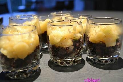 recette verrine boudin noir