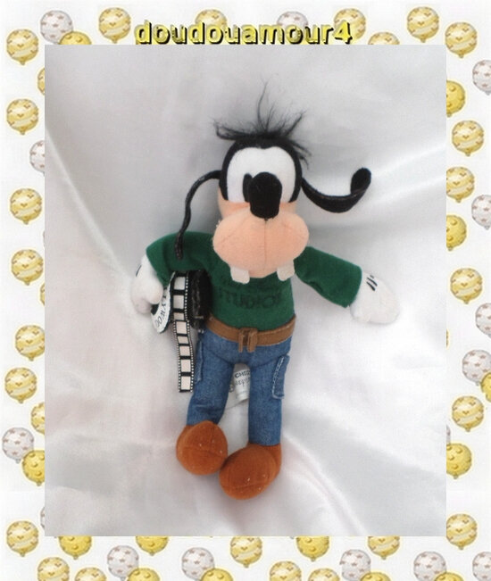 Peluche Doudou Dingo Walt Studio Hollywood Disneyland Disney