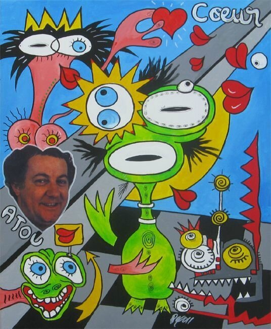 ROYO Hommage a Coluche 2011 61 x 50