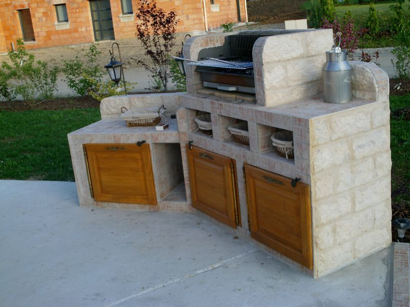 Excellent barbecue with plan de travail pour barbecue for Plan barbecue exterieur