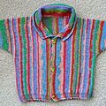 Baby side to side pullover-cardigan