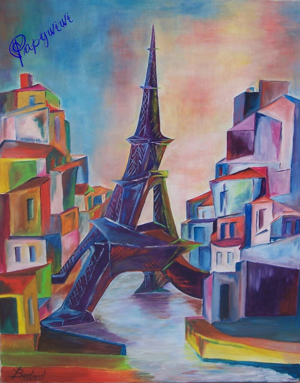 23 la tour eiffel photo de album de mes oeuvres blog art peintures de papy wiwi. Black Bedroom Furniture Sets. Home Design Ideas