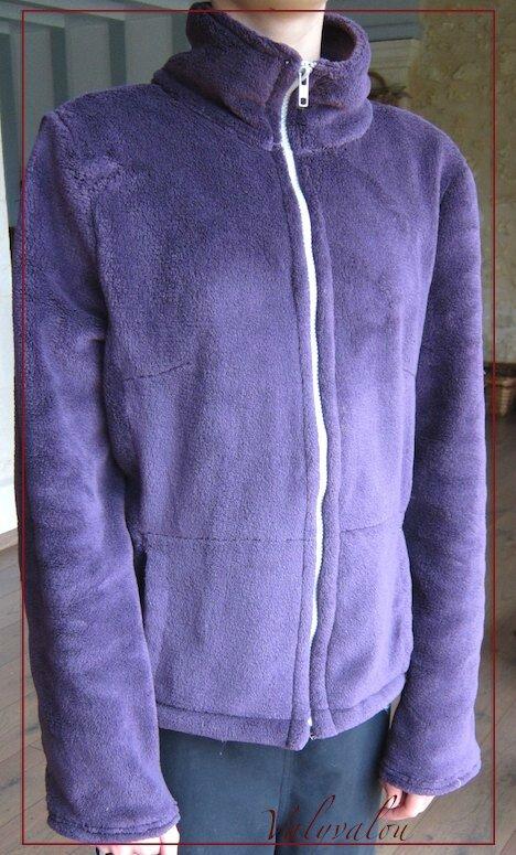 Polaire violette pour gelée blanche...