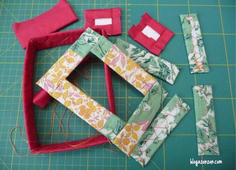 montage lettre textile