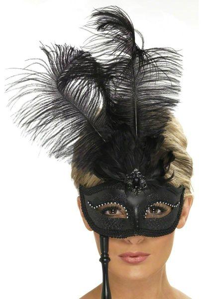 masque-a-plume-blanc-et-noir_200756