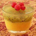 **curd a l'orange et kiwis en verrine**