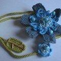 Zinnia (collier-fleur) bleu