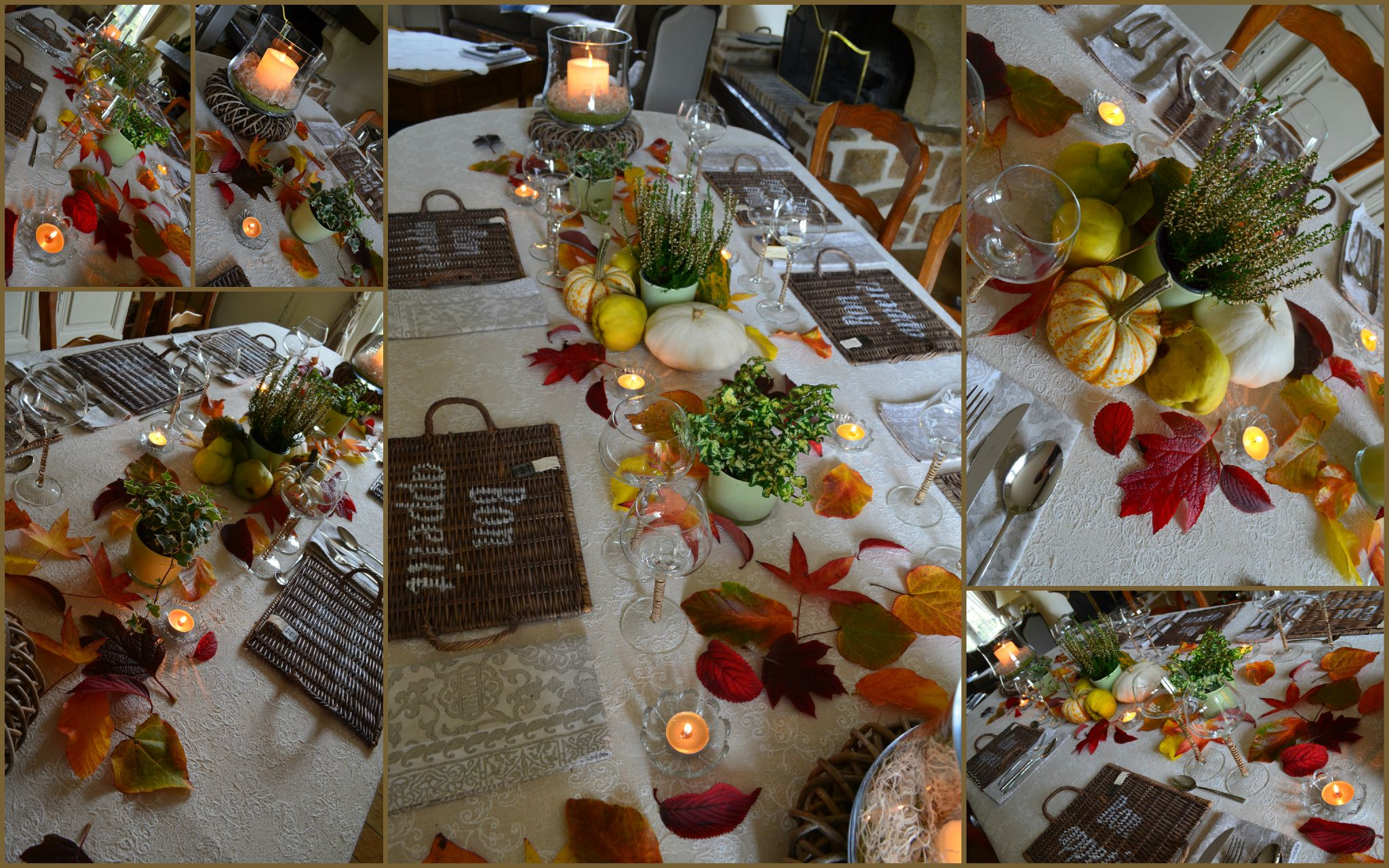 Pin Déco De Table Automne on Pinterest