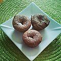 Quand il reste des chocolats de pâque et de noël : les fondants choco-noisette !