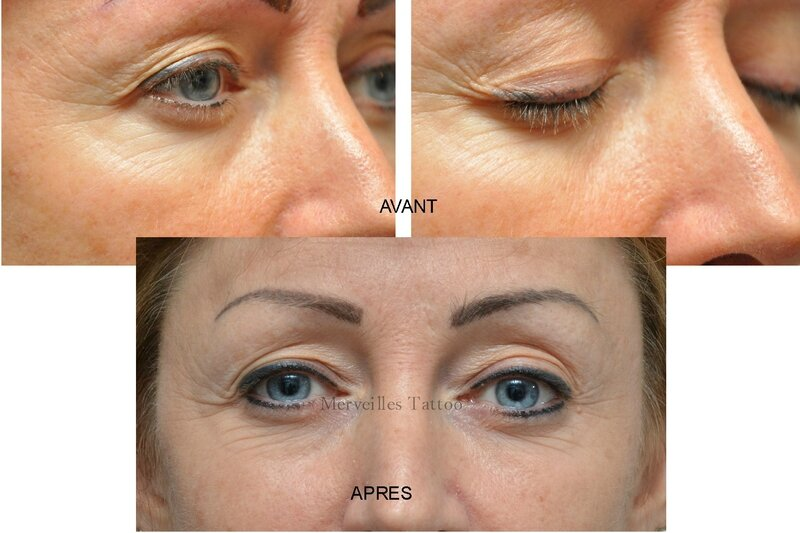rattrapage eye liner, maquillage permanent