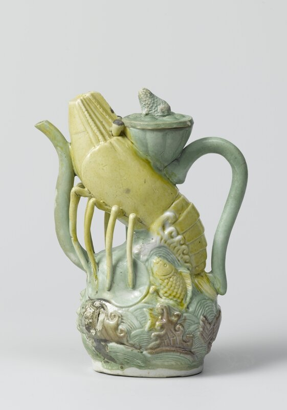 Wine jug in the form of a lobster, Wanli period, c