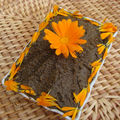 Tapenade fleurie au souci (calendula officinalis)