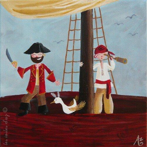 Petits pirates 30x30