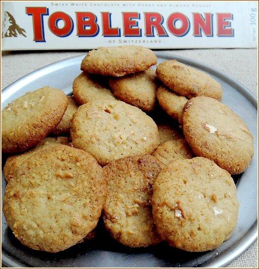 Biscuit noisette toblerone blanc