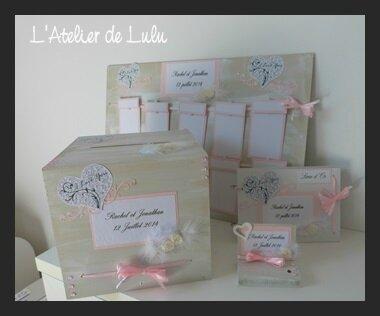 decoration mariage rose et arabesques