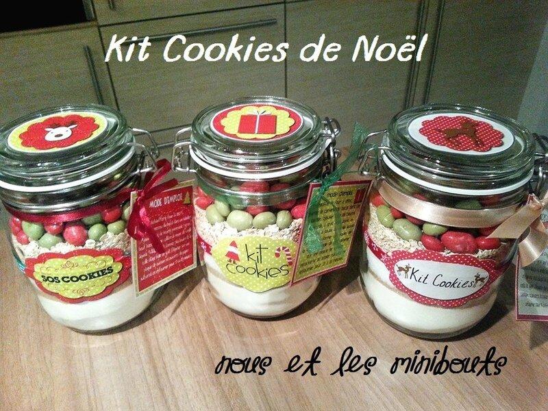 Kit Cookies de Noël vue dessus