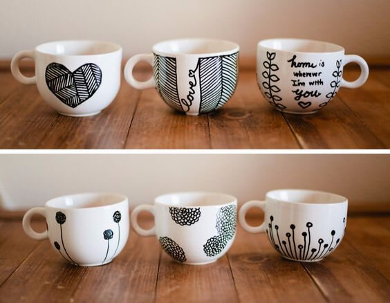 Customisation d'un mug en porcelaine