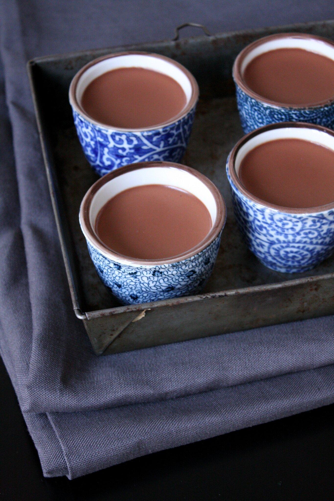petits pots de cr me au chocolat ultra cr meux beau la. Black Bedroom Furniture Sets. Home Design Ideas