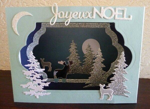 Carte Noël en 3 D