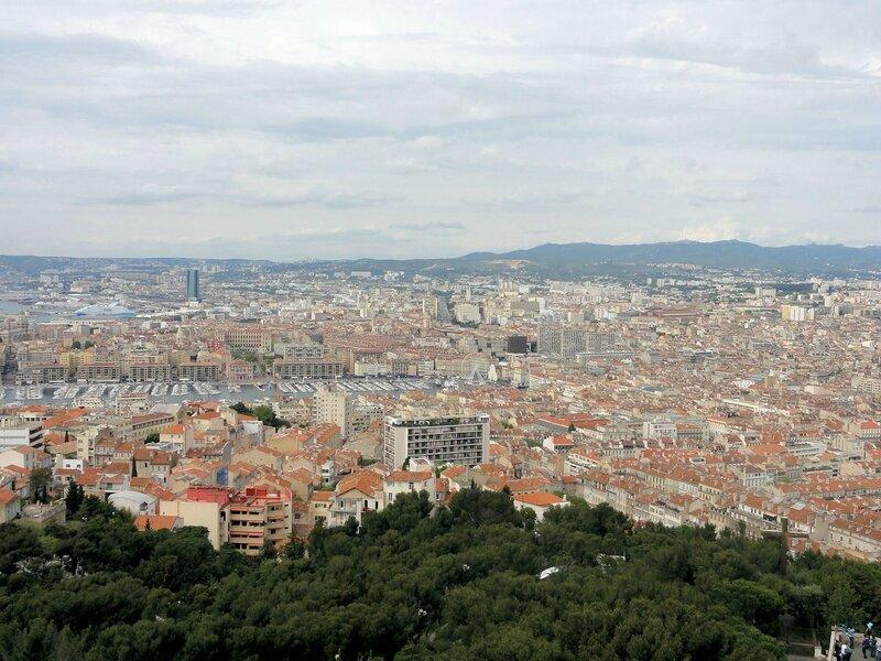Marseille vu du haut de Notre Dame de la garde