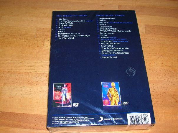 history 2 original dvd coffret 2 dvd allemagne michael jackson collection. Black Bedroom Furniture Sets. Home Design Ideas