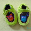 Hibou orange  droite, hibou turquoise  gauche...