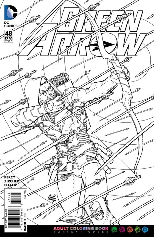 green arrow 48 adult coloring variant