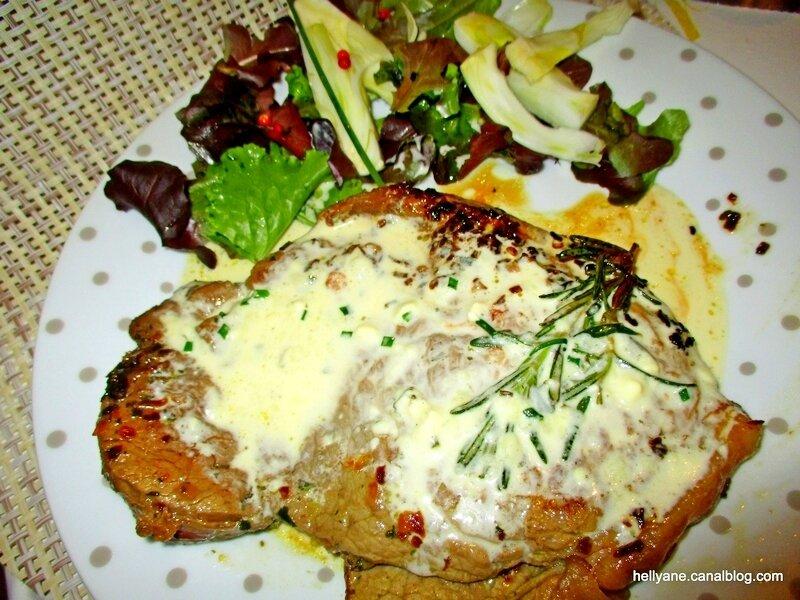 steak parfumé au roquefort hellyane