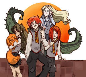 weasley_and_girls__no_spoiler__by_Sally_Avernier