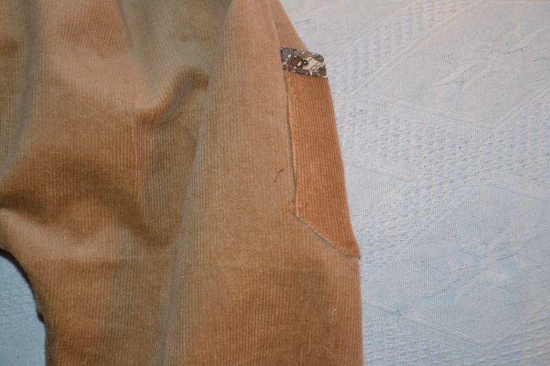 pantalon velours écureuil poches cars détail