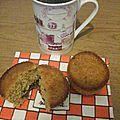 Muffin de l'écureuil cœur de chocolat