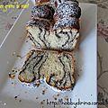 Brioche rayée aux grains de pavot / полосатая маковая бриошь