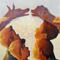Quand les ombres prennent vie - Acrylique sur toile - 81x65cm - Disponible