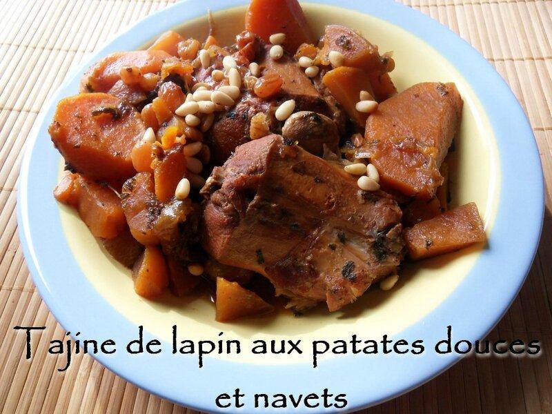 tajine de lapin aux patates douces et navets