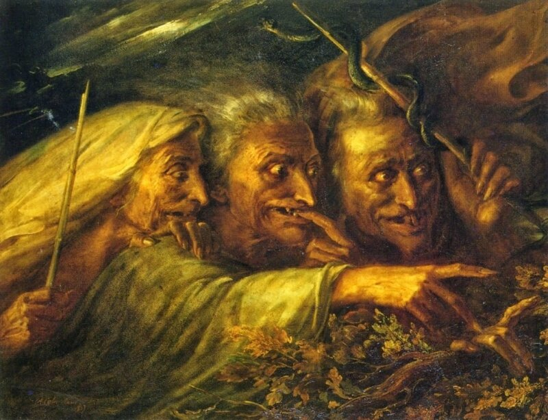 Alexandre-Marie Colin - The Three Witches From Macbeth