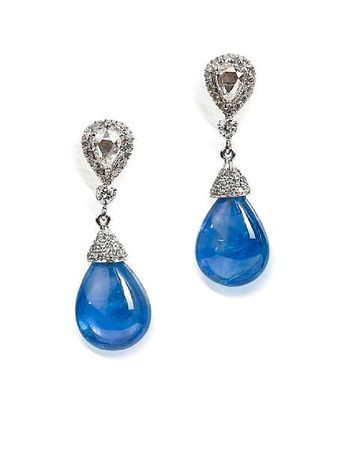 A_pair_of_sapphire_and_diamond_earrings
