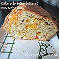 Cake mimolette et noisettes