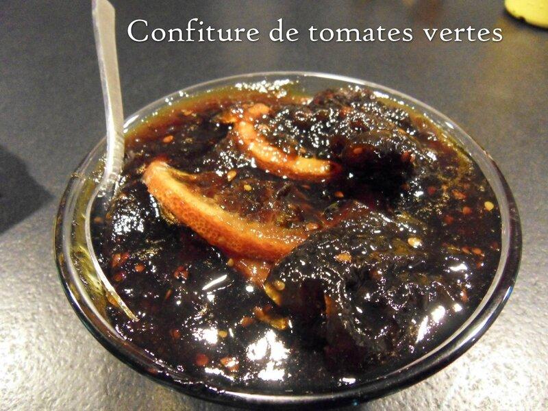 confiture de tomates vertes1
