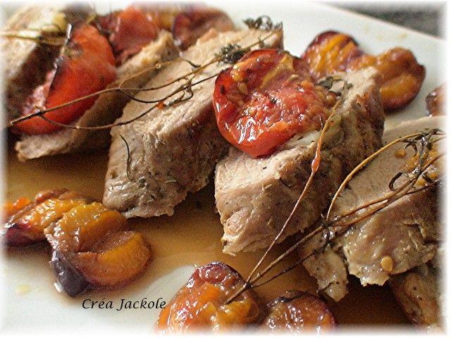 Filet mignon de porc aux quetsches cr a jackole - Cuisiner un filet mignon de porc au four ...