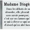 Madame diogène, aurélien delsaux