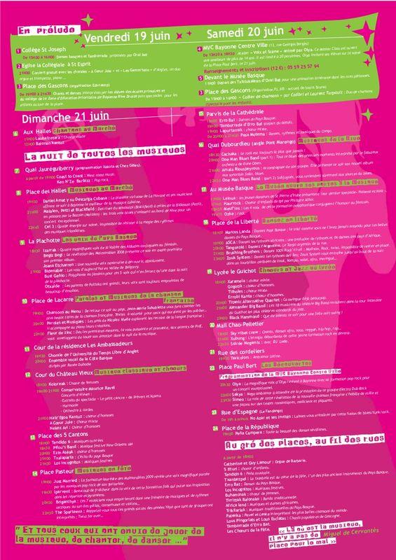 fête de la musique 21 juin 2009