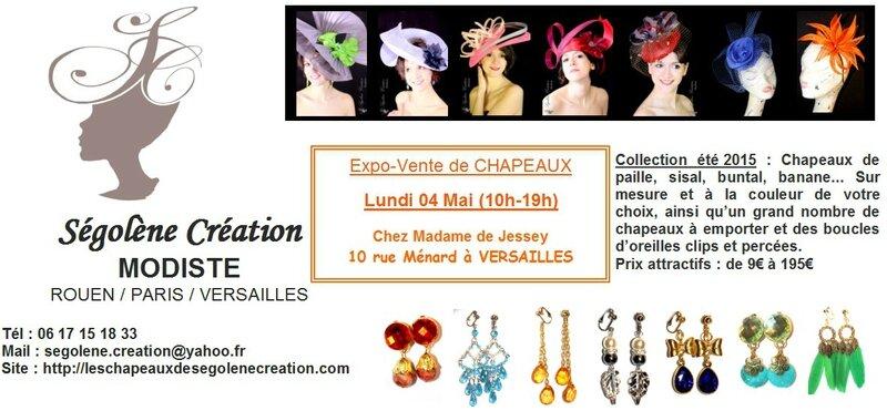 2015_05_04 VERSAILLES Expos chapeaux et clips oreilles segolene creation