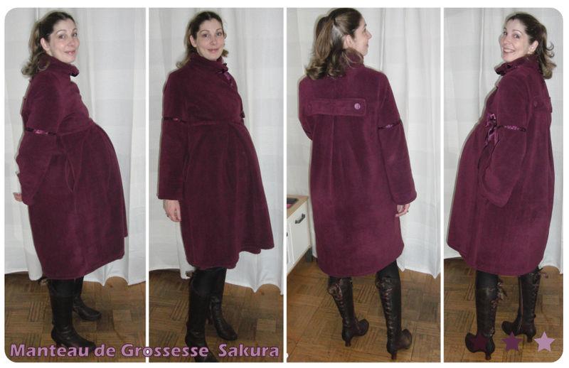 patron couture manteau femme enceinte
