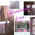 SAC MARRON ROSE ET LIBERTY